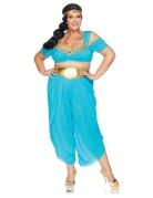Wüstenprinzessin-Kostüm grosse Grösse Damen-Karneval-Kostüm blau