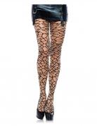 Netzstrumpfhose für Damen Crackle-Look Accessoire schwarz