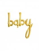 Baby Luftballon gold 73,5cm x 75,5cm