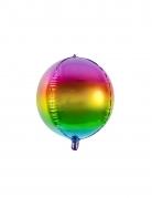 Folien-Luftballon Regenbogen Dekoration bunt 40 cm