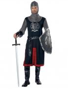 Ritter-Kostüm für Herren Mittelalter-Kostüm schwarz-silber-rot