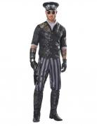 Steampunk-Kapitän-Kostüm für Herren Faschingskostüm grau