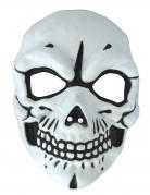 Skelettmaske für Erwachsene weiss-schwarz