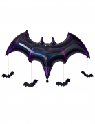 Fledermaus-Luftballon Aluminium-Ballon Halloween-Deko violett 130x80x20 cm