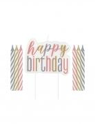 Kerzen für Geburtstagskuchen Kuchendeko 13 teilig pastell-gold