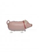 Schwein-Luftballon Partydeko rosa 61cm
