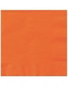 Papierservietten Halloween-Zubehör orange 25 x 25 cm