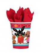 Bing™-Pappbecher 8 Stück rot-bunt 266ml