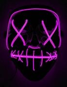 Leuchtende Maske Halloween-Maske LED schwarz-lila