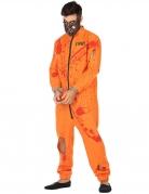 Blutiger Gefangener Herrenkostüm Halloweenkostüm orange-rot