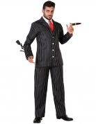 Klassischer Gangster-Gentleman Herren-Kostüm schwarz-weiss-rot