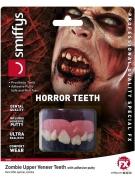 Zombie-Zähne Halloween-Make-up rot-weiss