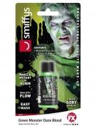 Flasche Kunstblut Halloween-Make-up grün 29,5 ml