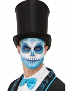 Día de los Muertos-Schmink-Set Halloween-Schminke blau