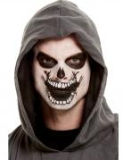 Skelett-Make-up mit Tattoo Halloween-Schminke 4-teilig schwarz-weiss