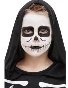 Skelett-Make-up für Kinder Halloween-Schminke schwarz-weiss
