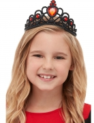 Gothic-Tiara für Kinder Halloween-Accessoire schwarz-rot
