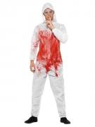 Serienkiller-Kostüm für Herren Halloween-Kostüm weiss-rot