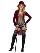 Voodoo-Kostüm für Damen Halloween-Kostüm rot-braun