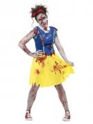 Zombie-Märchen-Kostüm für Damen Halloweenkostüm gelb-blau-rot