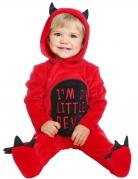 Freches Teufel-Kostüm für Kleinkinder rot-schwarz