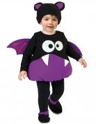 Fledermaus-Kostüm für Jungen Halloweenkostüm für Kleinkinder lila-schwarz