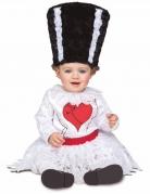 Frankys Frau Monsterkostüm für Babys Halloweenkostüm weiss-schwarz-rot