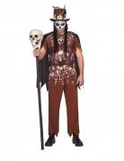 Voodoo-Kostüm für Herren Halloween-Kostüm braun