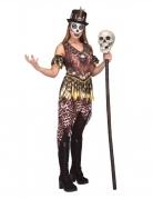 Grauenvolles Voodoo-Kostüm für Damen Halloween-Kostüm braun