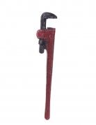 Rohrzange Halloween-Waffe Klempner-Werkzeug rot 52cm