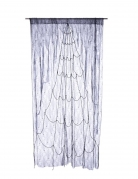 Spinnen-Netz-Vorhang für Halloween grau-schwarz 220x160cm