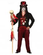 Voodoo-Hohepriester Kostüm für Herren Halloween-Kostüm schwarz-rot