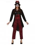 Voodoo-Hexen-Kostüm Voodoo-Priesterin rot-schwarz