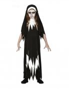 Zombie-Nonnenkostüm für Kinder Halloween-Kostüm schwarz-weiss