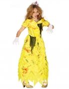 Zombie-Prinzessinnenkostüm für Mädchen Halloween-Kostüm gelb-rot
