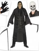 Sensenmann-Kostüm-Set für Herren Halloween 5-teilig schwarz