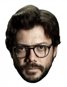 Alvaro Morte-Maske Bankräuber-Maske Karton hautfarben-braun