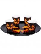 Kürbis-Tablett Halloween-Partydeko schwarz-orange 34,5 cm