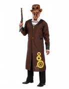 Steampunk-Mantel Steampunk-Kostüm für Herren braun