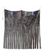 Totenkopf-Vorhang mit 6 LED-Totenköpfen Partydeko grau-bunt 185x140 cm