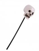Voodoo-Zepter Totenkopf Halloween-Accessoire schwarz-weiss 55 cm