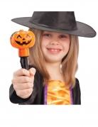 Leuchtender Zauberstab für Kinder Kürbis-Stab schwarz-orange