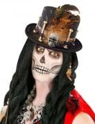 Voodoo-Hut Halloween-Accessoire schwarz-braun
