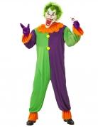 Psycho-Harlekin-Kostüm für Herren Halloweenkostüm bunt