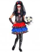 Día de los Muertos-Kostüm für Mädchen Halloween-Kostüm bunt