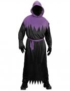 Sensenmann-Kostüm für Herren Halloween-Kostüm schwarz-violett