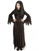 Gothic-Dame Kinderkostüm Halloweenkostüm schwarz