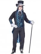 Viktorianisches Vampir-Kostüm für Herren Halloweenkostüm blau