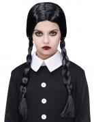 Gothic-Mädchenperücke für Damen Halloween-Accessoire schwarz