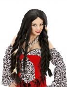 Voodoo-Perücke für Damen Halloween-Accessoire schwarz